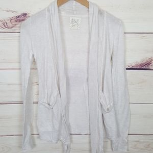 Billabong | Creamy White Open Front Cardigan S